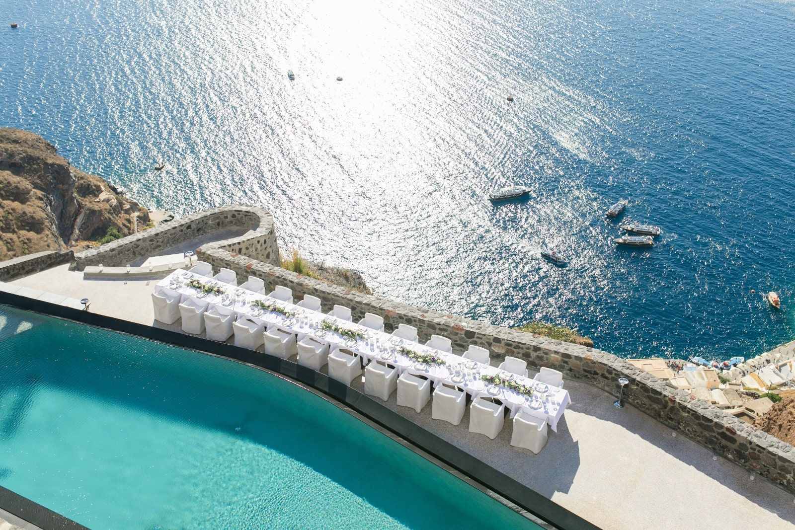 Destination Wedding in Santorini with Spectacular Views ...