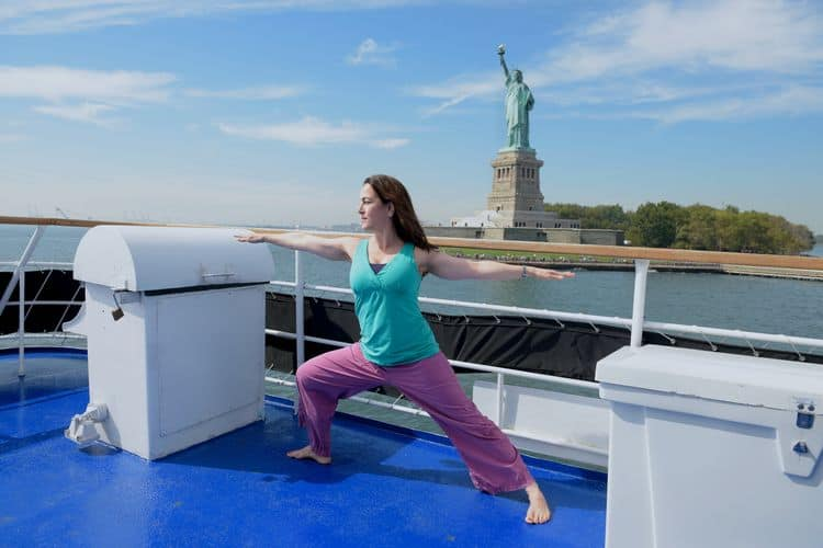 Spirit of New York Yoga on the water