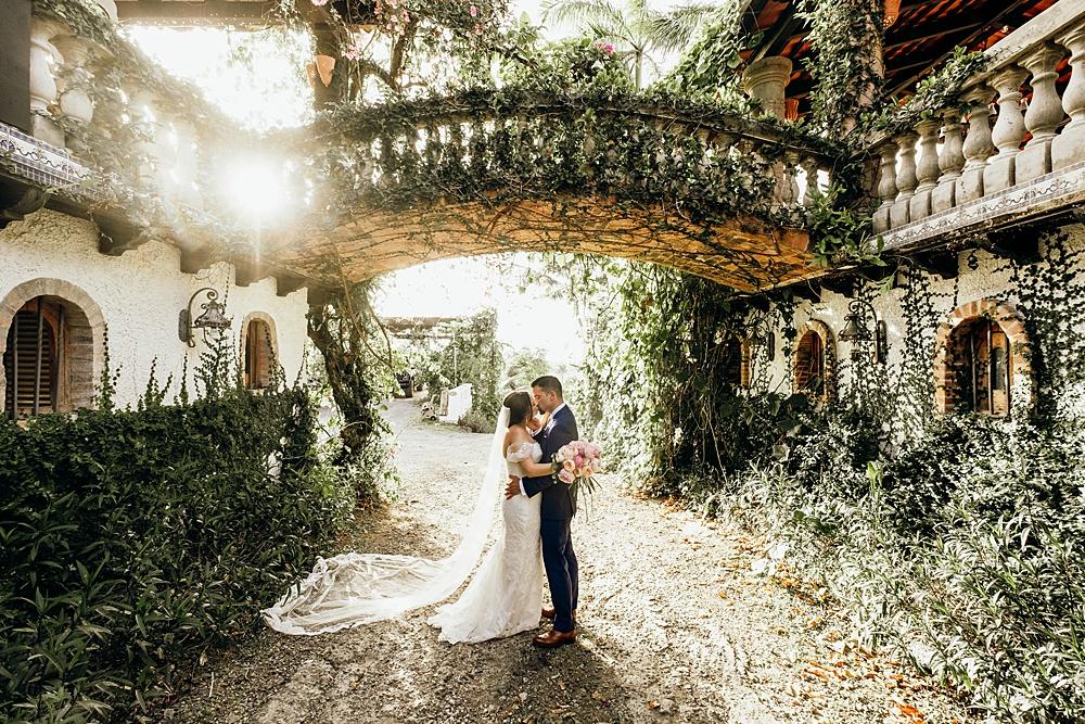 Stunning Puerto Rico Wedding Courtyard