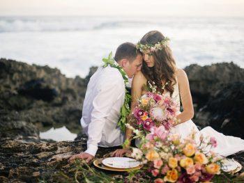 Tropical Beach Wedding Inspiration in Makaha, Hawaii