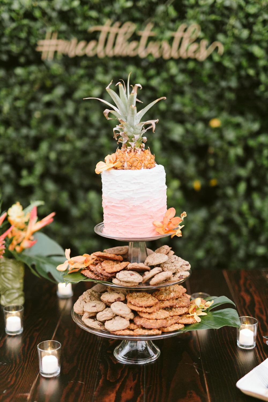 Tropical Wedding Cake and Dessert