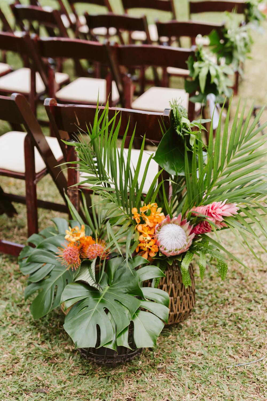 Tropical Wedding Ceremony Florals
