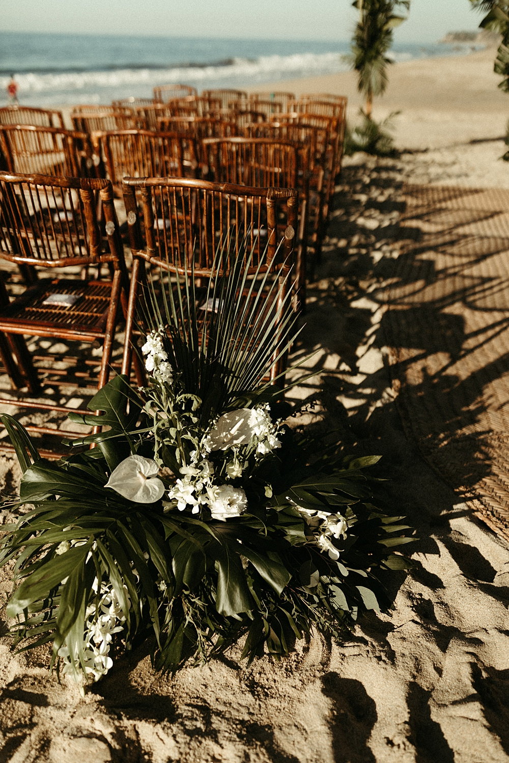 Tropical Wedding Ceremony Flowers