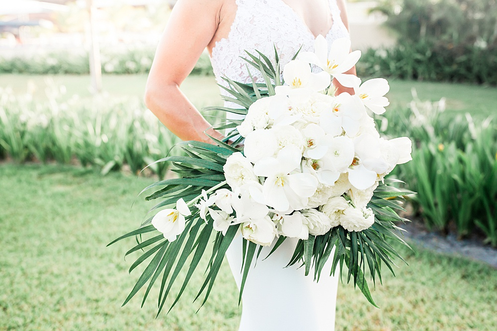 Tropical White Wedding Bouquet