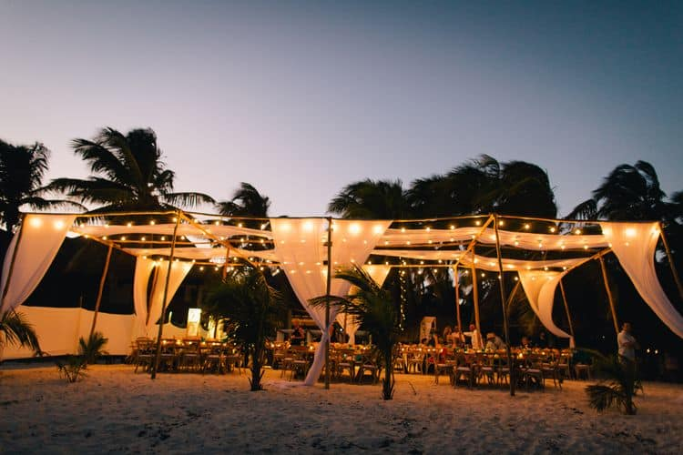 Destination wedding at the Akiin Beach Tulum
