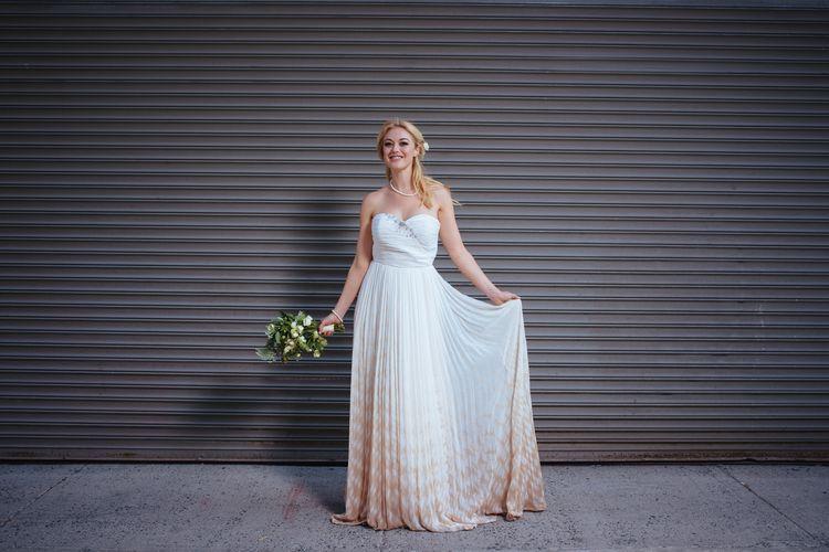 Wedding inspiration on the Brooklyn Bridge