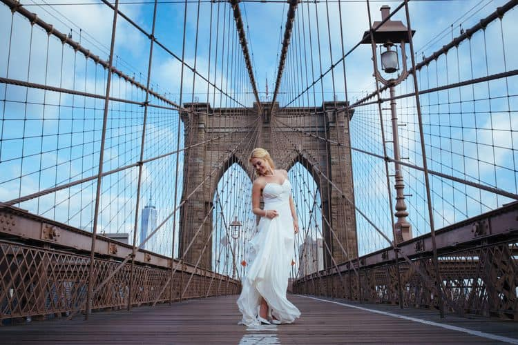 Wedding inspiration on the Brooklyn Bridge16