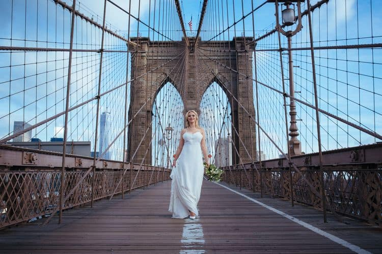 Wedding inspiration on the Brooklyn Bridge21