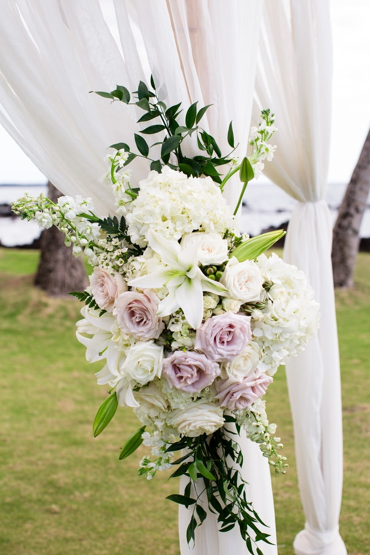 A Gorgeous White Orchid Beach House Wedding In Maui Destination