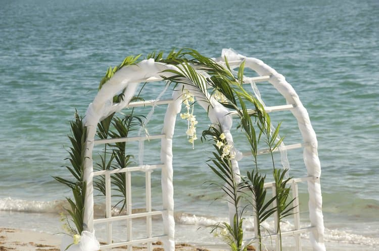 Gorgeous Wedding Arch Decoration - Destination Wedding Details