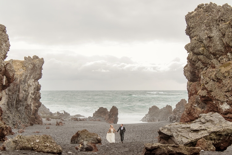 Winter Iceland Destination Wedding 35