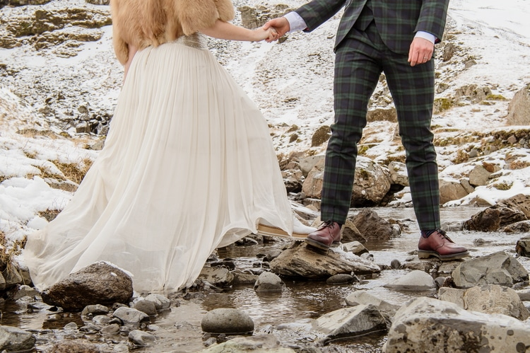 Winter Iceland Destination Wedding 57