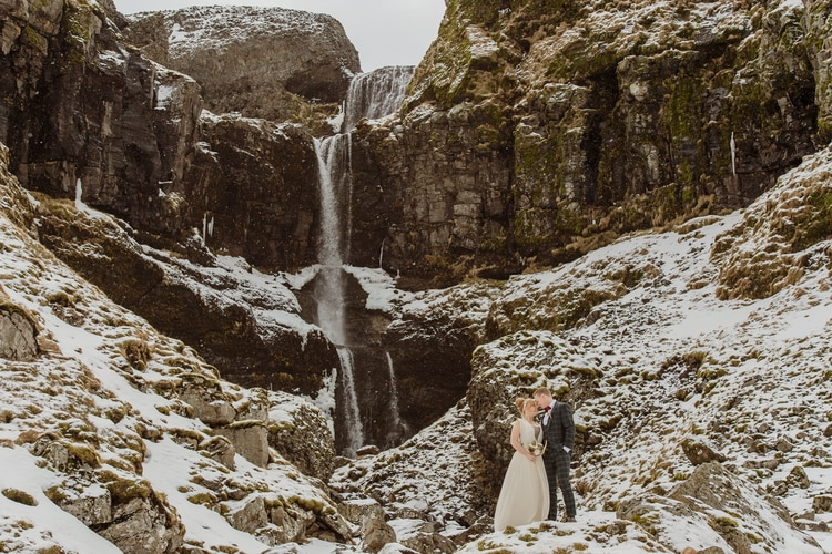 Winter Iceland Destination Wedding 60