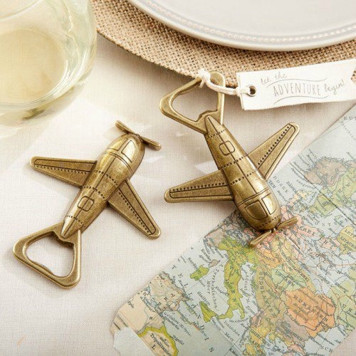 airplane bottle opener destination wedding favor
