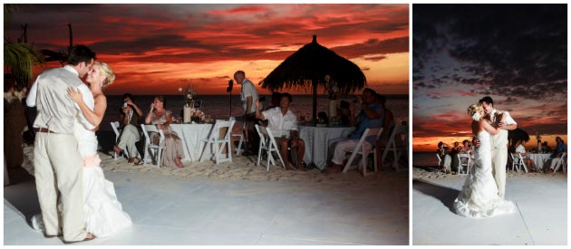 aruba wedding sunset