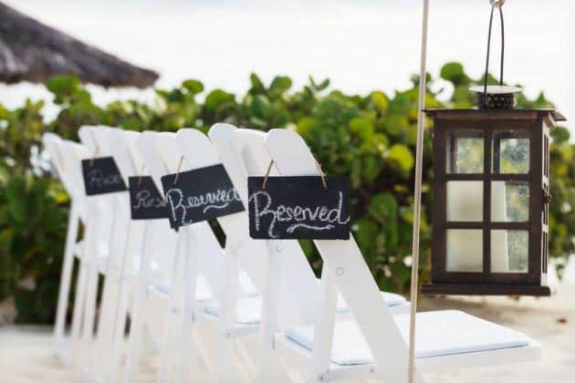 aruba beach wedding chairs