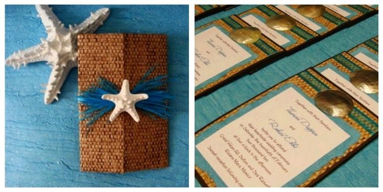bamboo beach theme wedding invitations