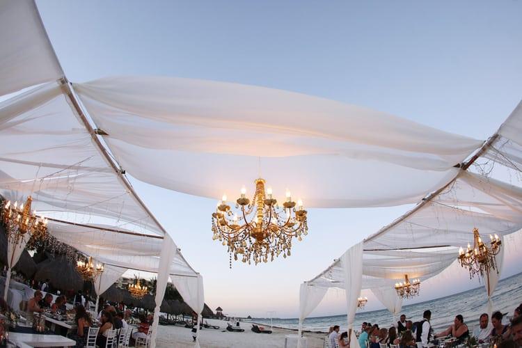 barefoot beach wedding in cancun 24