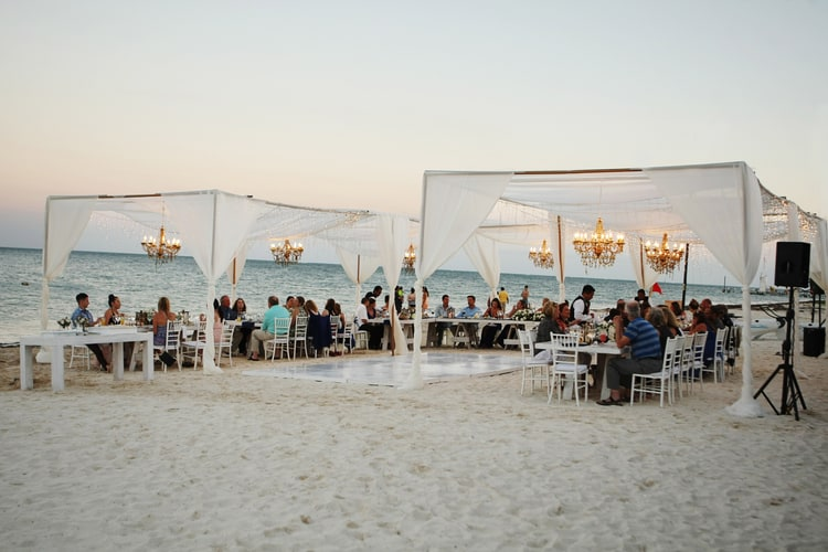 barefoot beach wedding in cancun 26