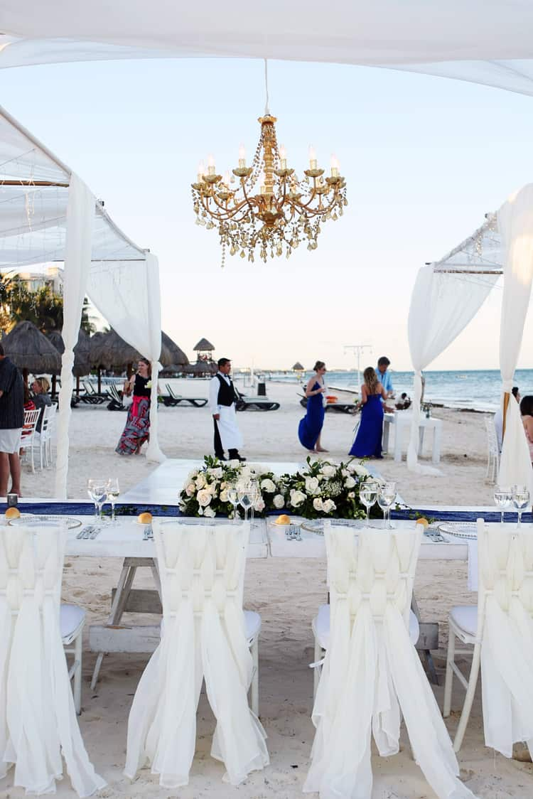 barefoot beach wedding in cancun 34