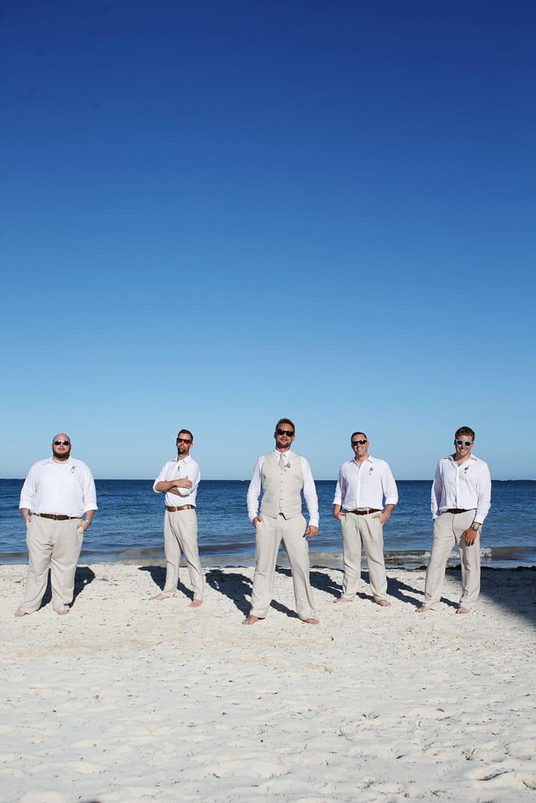 barefoot beach wedding in cancun 72