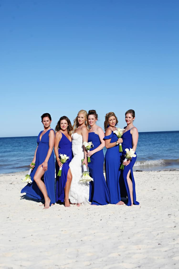 barefoot beach wedding in cancun 73