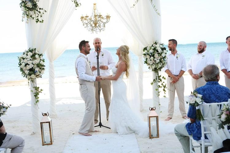 barefoot beach wedding in cancun 77