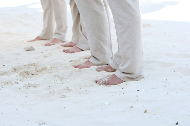 barefoot beach wedding in cancun 83