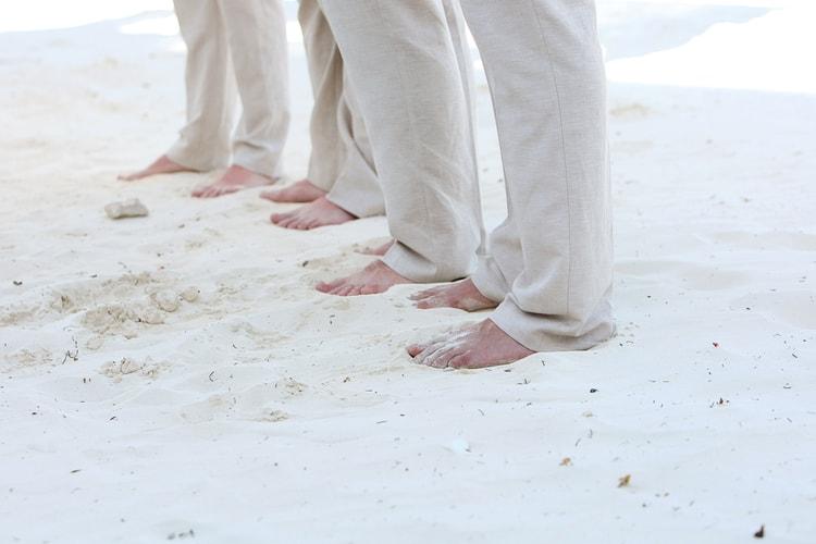 barefoot beach wedding in cancun 83