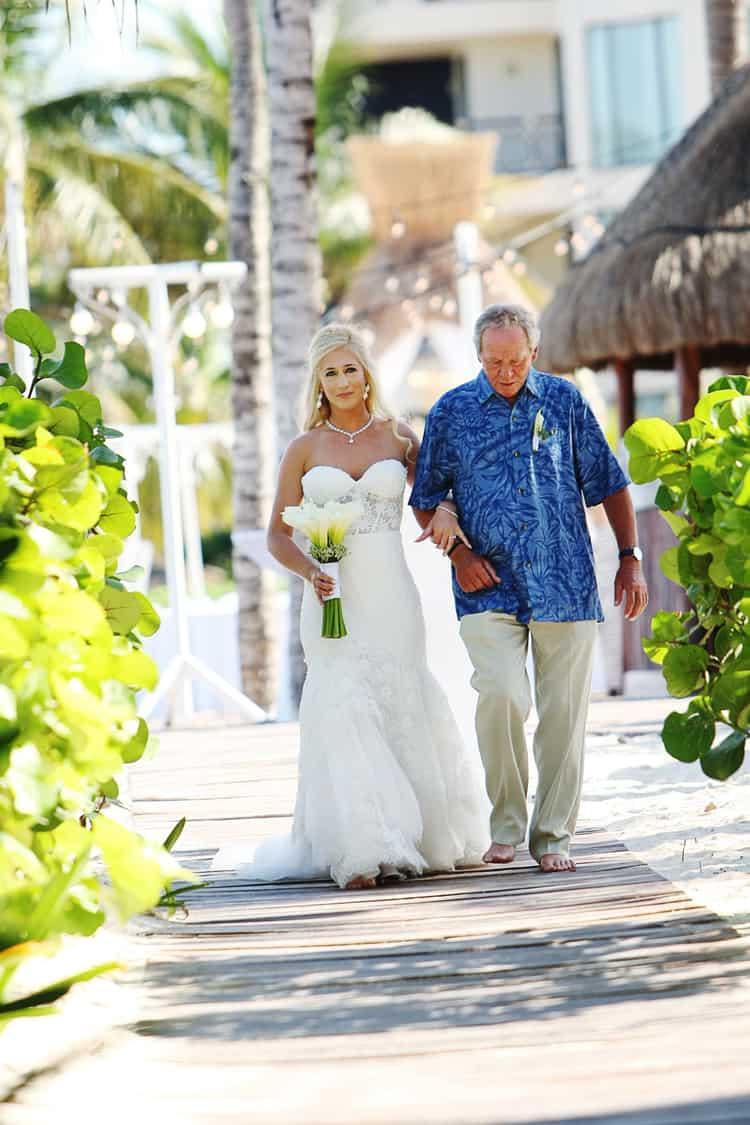 barefoot beach wedding in cancun 86