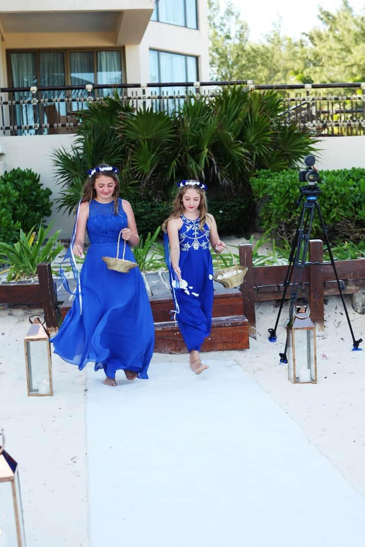 barefoot beach wedding in cancun 87