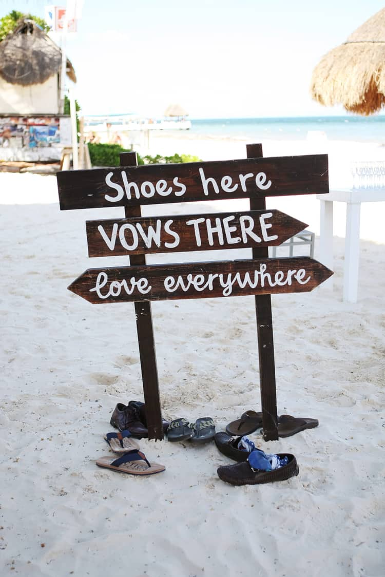 barefoot beach wedding in cancun 92
