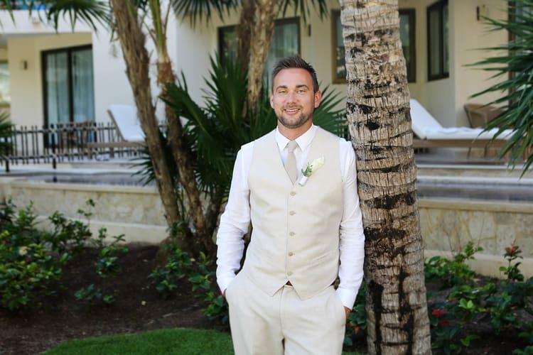 barefoot beach wedding in cancun 95