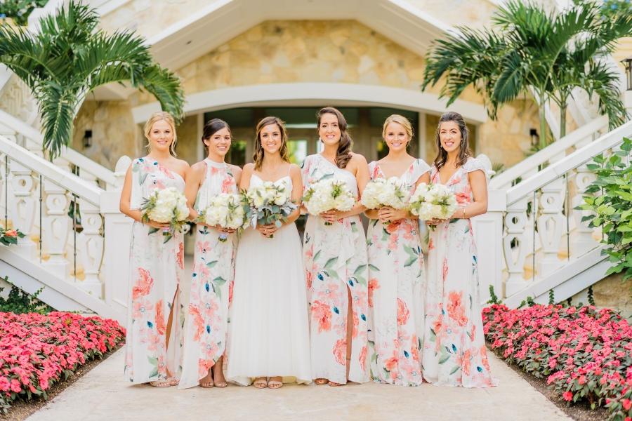 beach bridesmaid dresses floral