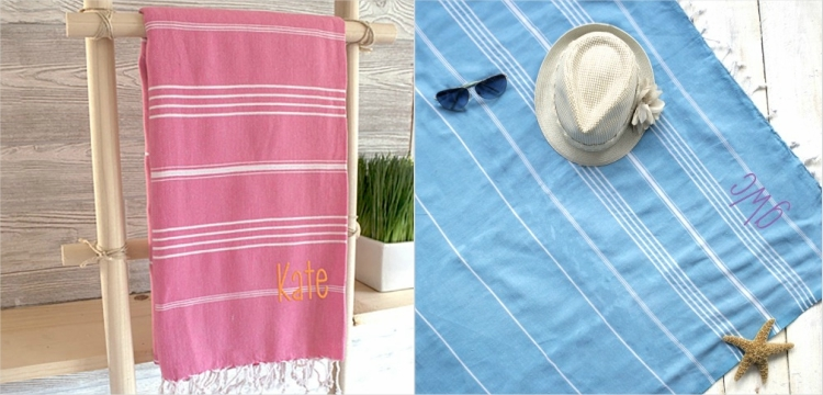 beach bridesmaid gift ideas personalized turkish towels