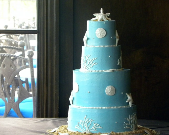 beach theme wedding cake 071