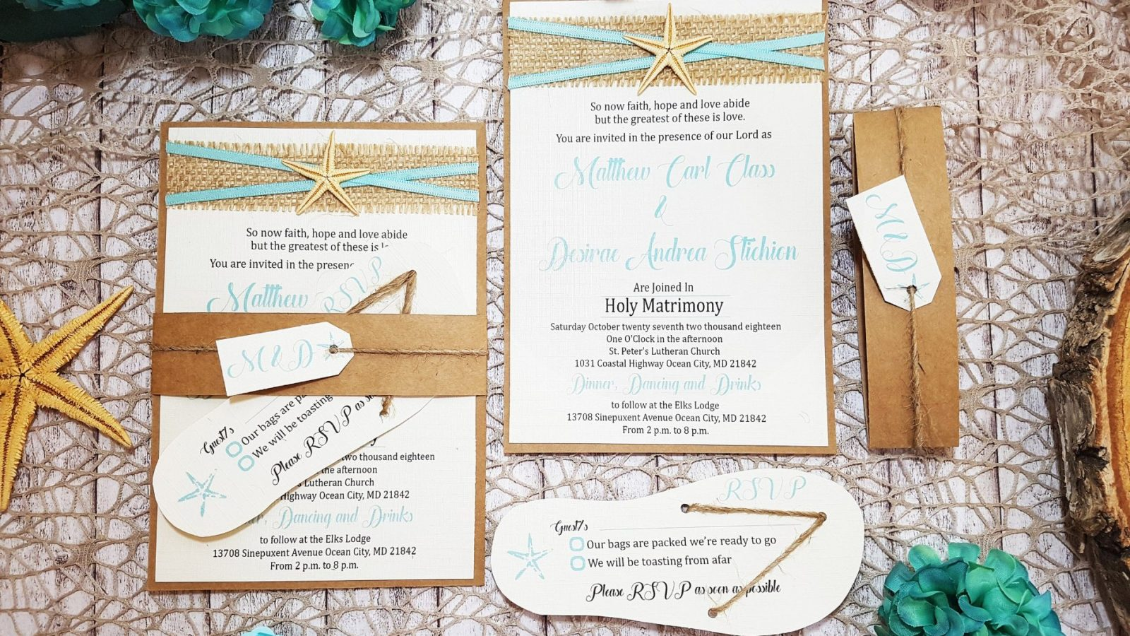 beach theme wedding invitations | destination wedding details