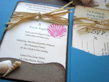 beach theme wedding invitations featured