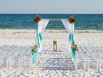 Gorgeous Beach Wedding Arch Decoration Ideas