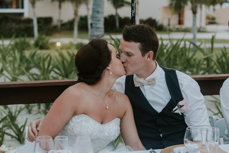 beach wedding at Royalton Riviera Cancun 100