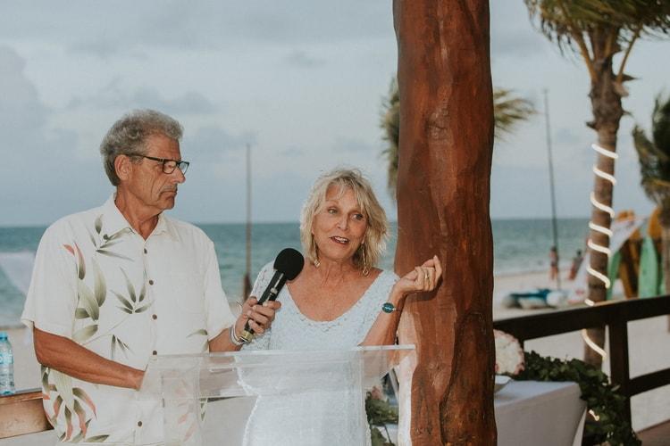 beach wedding at Royalton Riviera Cancun 105