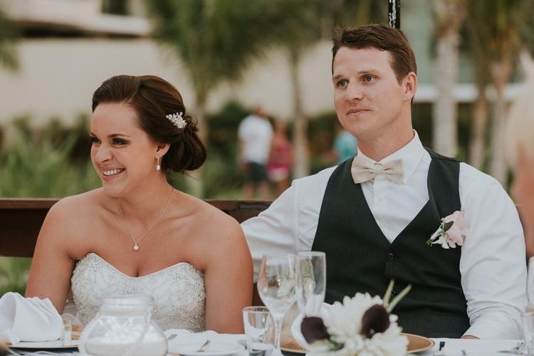 beach wedding at Royalton Riviera Cancun 107