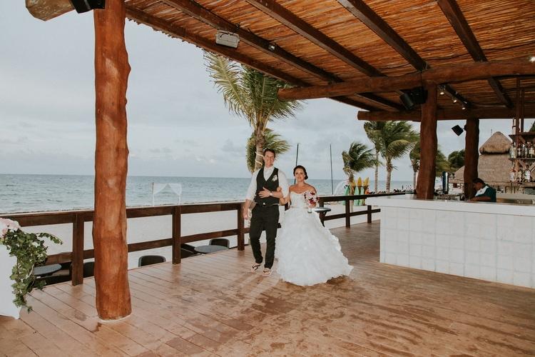 beach wedding at Royalton Riviera Cancun 121
