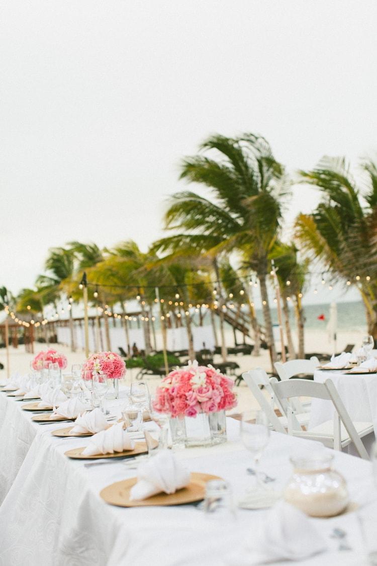beach wedding at Royalton Riviera Cancun 127