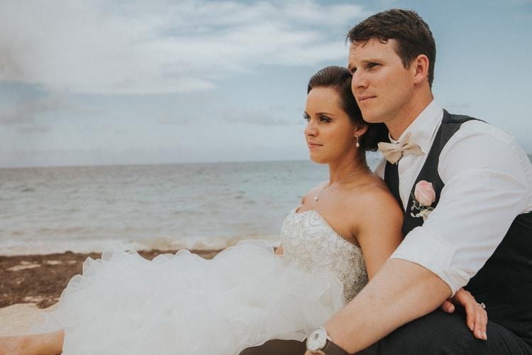beach wedding at Royalton Riviera Cancun 139
