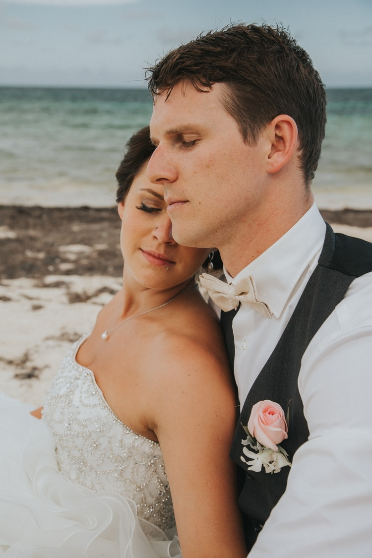 beach wedding at Royalton Riviera Cancun 140