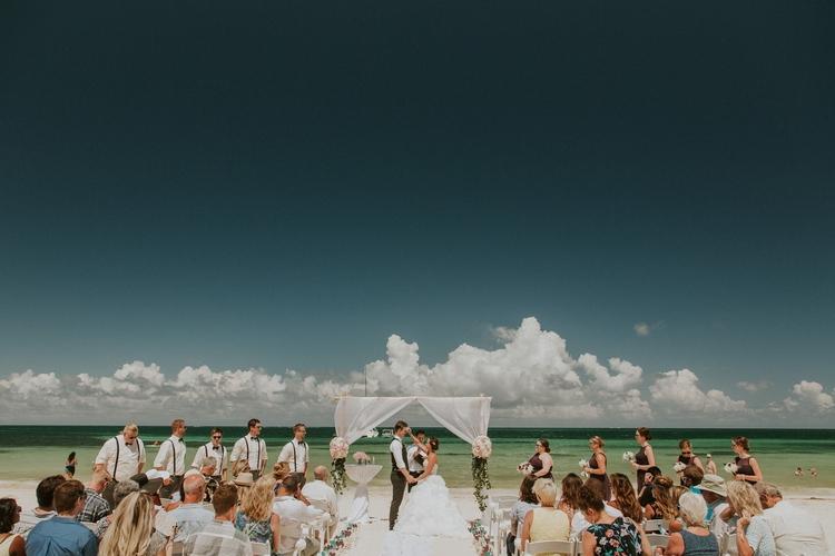 beach wedding at Royalton Riviera Cancun 172