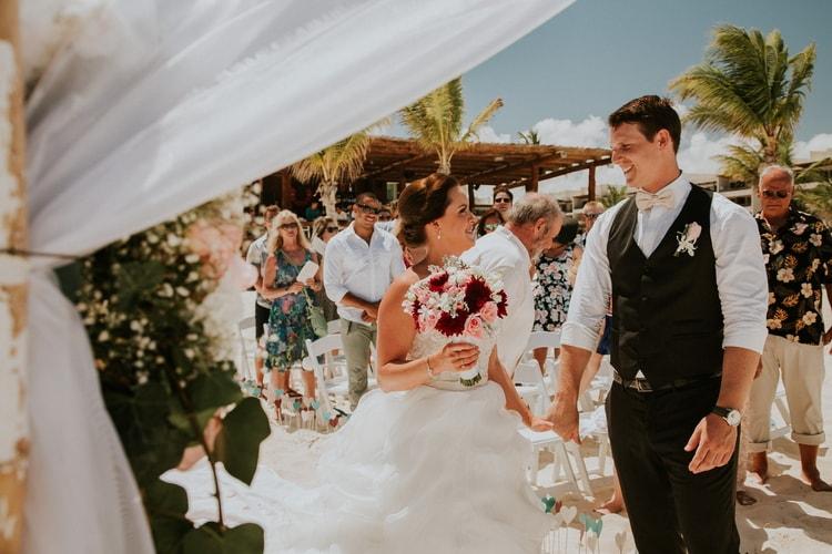 beach wedding at Royalton Riviera Cancun 183