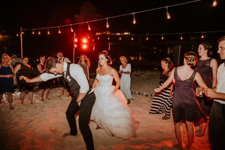 beach wedding at Royalton Riviera Cancun 26