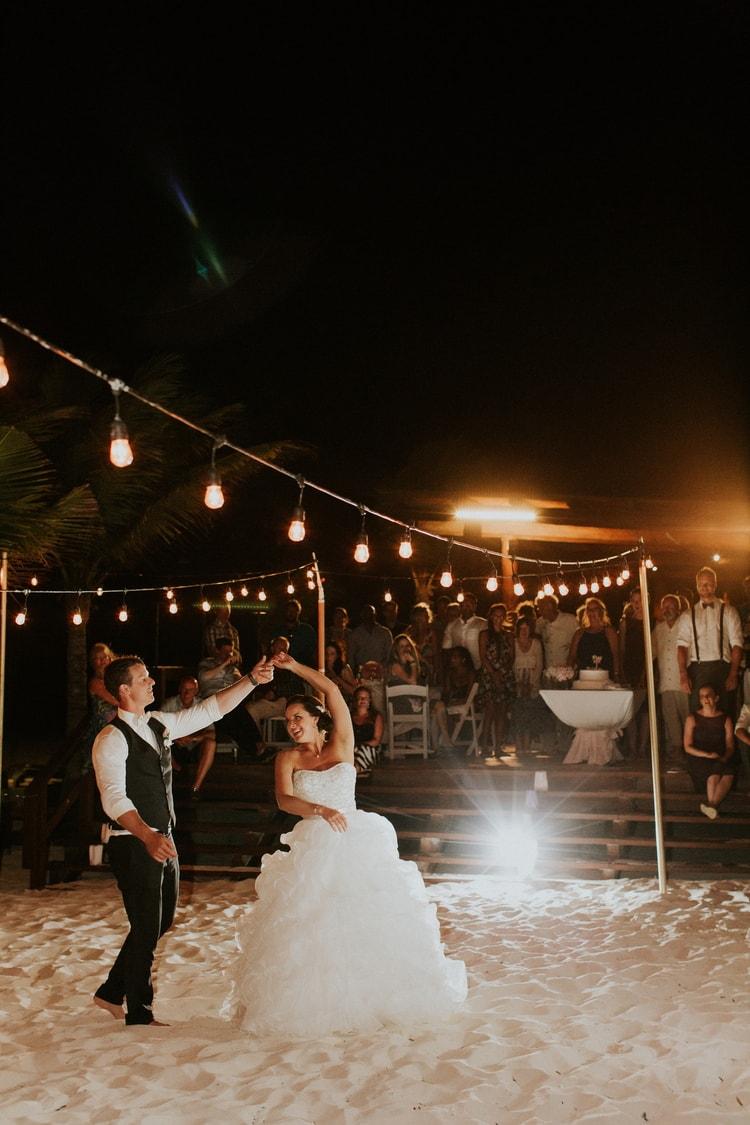 beach wedding at Royalton Riviera Cancun 46